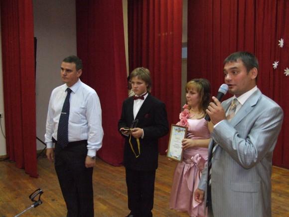 Caption: Mr. Olexandr V. Vydrya, deputy director on security, at the gala ceremony